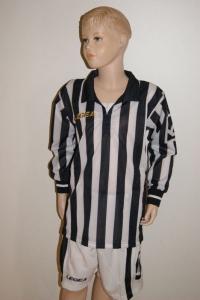 14 Legea-Fußball-Trikot-Sets - MANHATTAN schwarz / weiß (Größe: 14x in XS)
