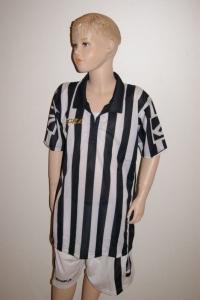 14 Legea-Fußball-Trikot-Sets - BROADWAY  schwarz/weiß (Größe: 14 x in S)