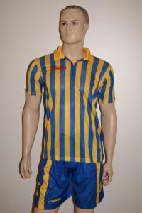 14 Legea-Fußball-Trikot-Sets - BROADWAY gelb / azur (Größe: 12 x in S)
