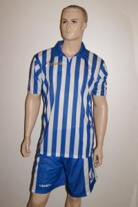 14 Legea-Fußball-Trikot-Sets - BROADWAY  weiß / azur (Größe: 14 x in M)