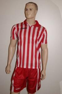 14 Legea-Fußball-Trikot-Sets - BROADWAY  weiß /rot (Größe: 13 x in M)