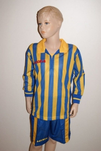 14 Legea-Fußball-Trikot-Sets - MANHATTAN  gelb / azur (Größe: 14 x S)