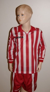 14 Legea-Fußball-Trikot-Sets - MANHATTAN weiß / rot (Größe: 14 x XL)