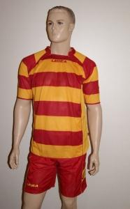 14 Legea-Fußball-Trikot-Sets - SCOZIA rot / gelb (Größe: 14 x in S)
