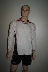 14 Legea-Fußball-Trikot-Sets - ATENE weiß / schwarz (Größe: M)