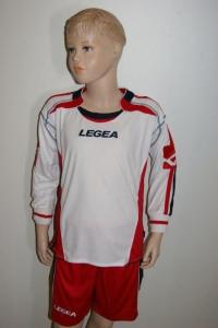 Legea-Fußball-Trikot-Set - ATENE weiß / rot (Größe: 2XS)