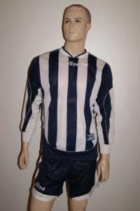 14 Royal-Trikot-Sets - EVASIVE- Fußball Trikot u. Hose  blau / weiß (Größe: 5 x M + 6 x L)