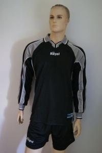 14 Fußball-Trikot-Sets - HORN -von ROYAL  schwarz / grau (Größe: 14 x L)