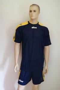 14 Fußball-Trikot-Sets  SKIPPER von ROYAL  blau / gelb (Größe: 14 x XL)