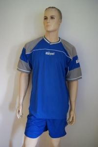 14 Fußball-Trikot-Sets - POLARIS -von ROYAL  azur / grau (Größe: 9 x L + 5 x XL)