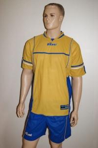 14 Fußballl-Trikot-Sets - LINX  von ROYAL  gold / azur (Größe: Einzelset in XL)