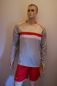 Legea-Fußball-Trikot-Set - Francoforte: rot / weiß (Größe: L)