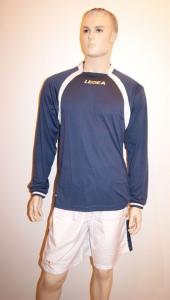 14 Legea-Fußball-Trikot-Sets- Dover blau / weiß (Größe: 2x in XL + 12x in XXL)