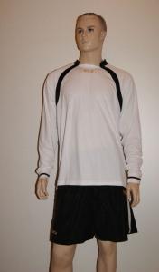 14 Legea-Fußball-Trikot-Sets- Dover weiß / schwarz (Größe: 13 x in S)