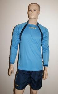 14 Legea-Fußball-Trikot-Sets- Dover azur/dunkelblau (Größe: 6 x in XL)