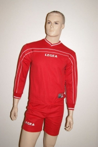 Legea-Trikot-Set - Siria rot - Fußball Trikot u. Hose  Gr. S (Größe: S)