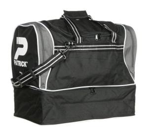 Sporttasche / Fußballtasche TOLEDO-005 schwarz/grau mit separatem Schuhfach