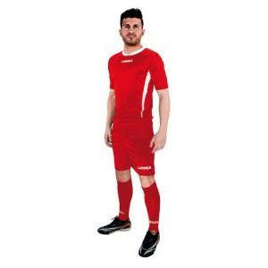 Legea-Trikot-Set - Düsseldorf rot- Fußball Trikot u. Hose (Größe: M)