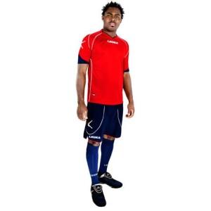 Legea-Trikot-Set - Parigi - Fußball Trikot u. Hose rot/blau (Größe: L)