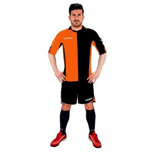 Fußball-Trikot-Set -(Trikot+Hose)  Sardegna v. Legea orange/schwarz (Größe: XL)