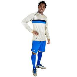 Legea-Fußball-Trikot-Set - Francoforte: blau / azur (Größe: XS   (164))