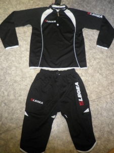 Trainingsanzug Pinocchietto schwarz/weiß v. LEGEA (Größe: S)