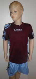 Legea-Trikot-Sets - Colonia  weinrot/hellblau (Größe: S -  fällt kleiner aus =  XS)