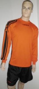 14 x Legea-Trikot-Sets - Amburgo  orange / schwarz (Größe: 14 x 2XL- fällt kleiner  aus =   XL)