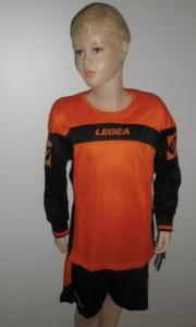 14 x Legea-Trikot-Sets - Oviedo  orange / schwarz (Größe: 14 x 2XS)