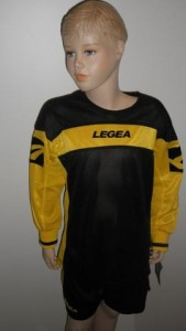 14 x Legea-Trikot-Sets - Oviedo  schwarz / gelb (Größe: 14 x S)