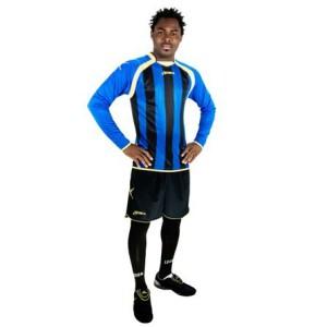Legea-Fußball-Trikot-Set - RIAD azur / schwarz (Größe: S)