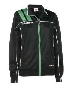 Frauen-Trainingsjacke VICTORA 125 schwarz / grün (Größe: XL)
