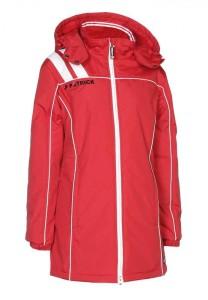 Frauen-Mantel VICTORA 135  rot / weiß (Größe: M)