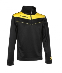 Trainingssweater POWER 130  v.PATRICK schwarz  / gelb (Größe: 2XS)