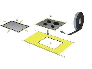 Spezial-Dichtung für Induktions-Kochfeld - einseitig selbstklebend 3 m - 9mm Breite 3mm extra dick