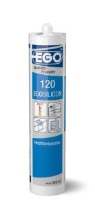 20 x EGOSILICON 120 Hochtemperatur schwarz 310ml Kartusche