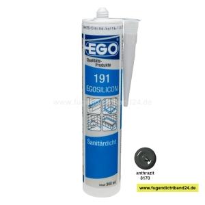 EGOSILICON 191 Sanitärsilikon - anthrazit - 300ml Kartusche