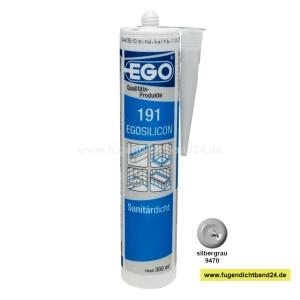 EGOSILICON 191 Sanitärsilikon - silbergrau - 300ml Kartusche