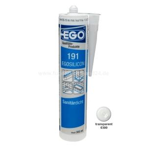 EGOSILICON 191 Sanitärsilikon - transparent - 300ml Kartusche