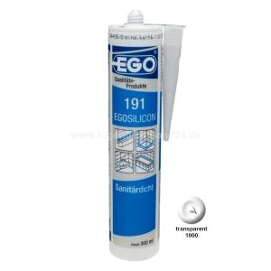 EGOSILICON 191 Sanitärsilikon - weiss - 300ml Kartusche