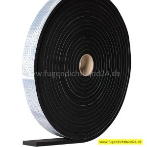 EPDM Zellkautschuk 10mm Stärke - von 250mm bis 900mm Breite - einseitig selbstklebend - 10m Rolle (Breite bitte wählen: 250mm)
