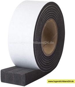 HSF Quellband / Kompriband - 4-15mm schwarz 7m Rolle verschiedene Breiten - 1050 Pa (Breite: 30 mm)