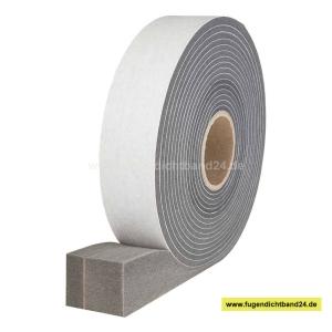 HSF Quellband / Kompriband mit Membrane -  schlagregendicht von 4 - 15 mm - 56 mm Breite - 14,1m Rolle  - 600 Pa