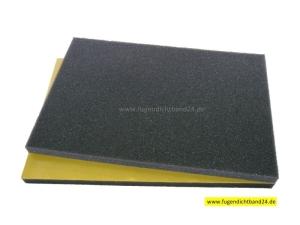 Schaumstoff 15mm Stärke einseitig selbstklebend anthrazit - diverse Abmessungen (Schaumstoff 15mm Stärke einseitig selbstklebend anthrazit: 200mm x 300mm)