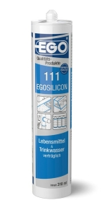 EGOSILICON 111 Lebensmittel & Trinkwasser grau 310ml Kartusche