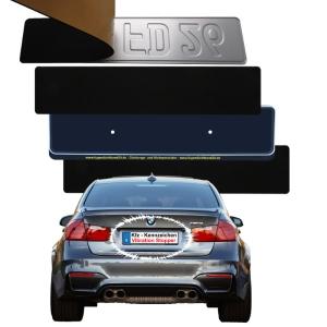 Kennzeichen-Vibration-Stopp - Doppelpack 1 + 3 mm - Montage vor und im Nummerschild-Halter (Größe: 2 x 520 mm x 110 mm)