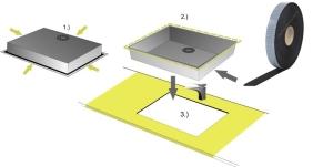Spezial-Dichtung für Spülbecken - einseitig selbstklebend - 3 m - 9mm Breite 2mm Stärke