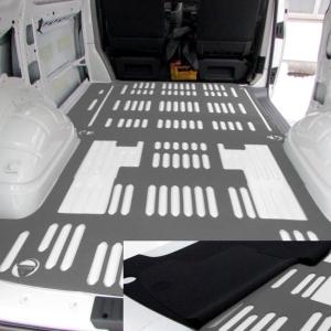 Zweischicht-Laderaumschutz-Matte VW T6 - geschlossenzelligem Zellkautschuk und PE Unterlage