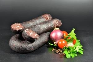 Blutwurst - Hausgemacht - im Ring getrocknet (Gewicht: 250g getrocknete Blutwurst im Ring)