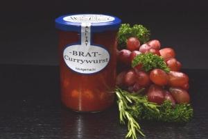 Brat-Currywurst  im Glas 400g (1 Glas / Versandgewicht ca. 650g: Inhalt ca. 400g)